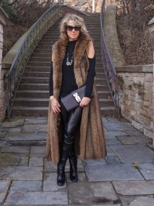 full length fur vest