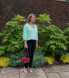 Old Navy mint green blouse