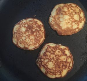 cooking zucchini pancakes