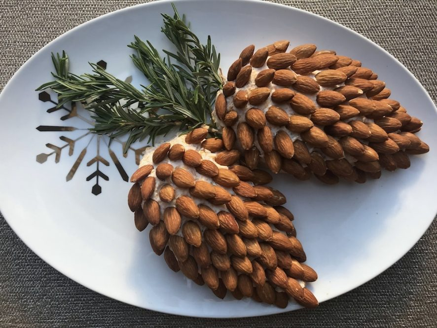 cheeseball almond pinecone