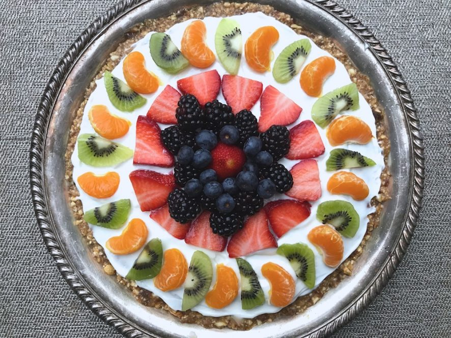 Healthy dessert fruit tart