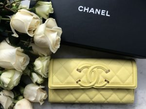 Chanel spring summer 2018 yellow flap wallet