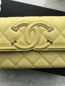 Chanel spring summer 2018 yellow wallet