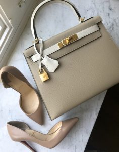 Hermes 28cm bi color kelly