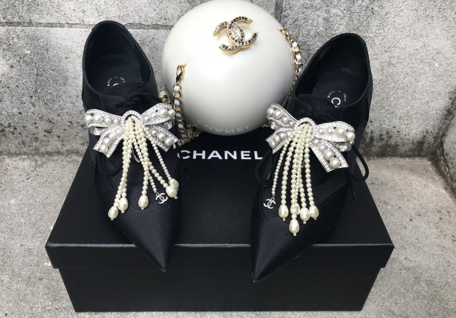 Chanel pearl minaudiere
