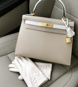 Hermes 28 kelly special order craie and trench