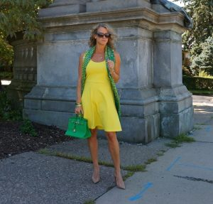 H&M sleeveless jersey dress yellow