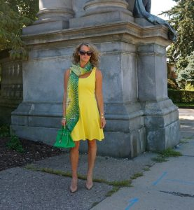 H&M yellow sleeveless jersey dress