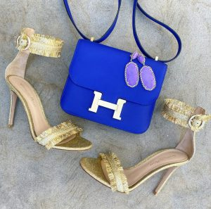 Hermes Blue Electric 18 swift constance GHW