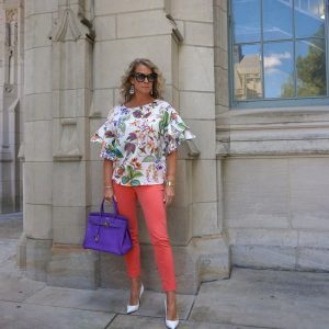 A New Day orange cropped pants