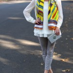 Forever21 top, Gap trousers, Manolo Hangisi shoes, Hermes shawl