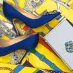 Manolo Hangisi, Charlotte Olympia clutch and Hermes scarf