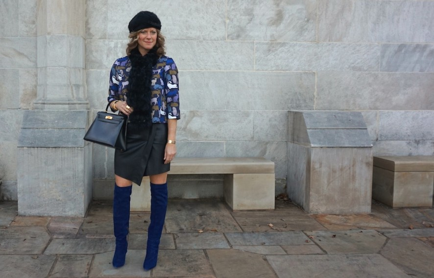 Joie blue suede olivia boots