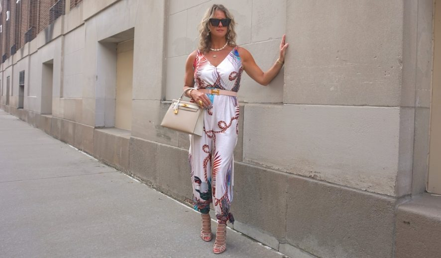 chic me peacock tied jumpsuit